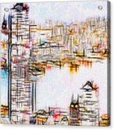 City By The Bay Acrylic Print by Jack Zulli