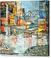 City By The River - Sold Acrylic Print