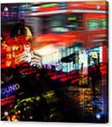 London City Cafe Culture Acrylic Print