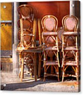City - Chairs - Red Acrylic Print