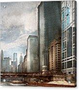 City - Chicago Il -  Building A New City Acrylic Print