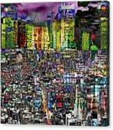 City Dawn Art Cityscape  Acrylic Print