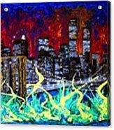 City Escape By Darryl Kravitz Acrylic Print