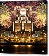 City Fireworks Acrylic Print