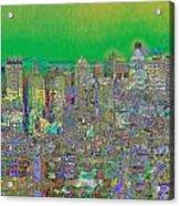 City Garden In Green Acrylic Print