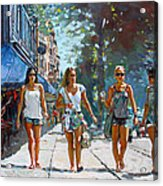 City Girls Acrylic Print
