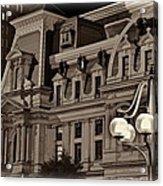 City Hall At Night Closeup Acrylic Print