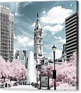 City Hall In Spring Acrylic Print