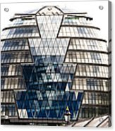 City Hall London Acrylic Print by Christi Kraft