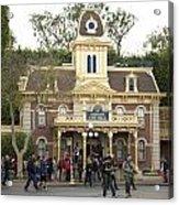 City Hall Main Street Disneyland Acrylic Print