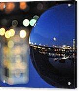 City In A Globe Acrylic Print