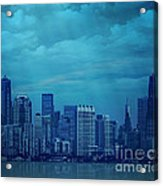 City In Blue Acrylic Print