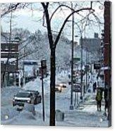 City In Snow Acrylic Print