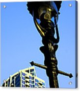 City Lamp Post Acrylic Print by Karol Livote