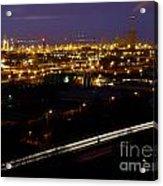City Lights At Night Acrylic Print