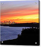 City Lights In The Sunset Acrylic Print