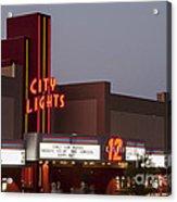 City Lights Marquee Acrylic Print