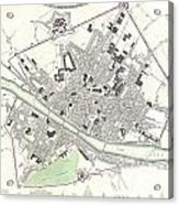 City Map Or Plan Of Florence Or Firenze Acrylic Print