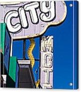 City Motel Las Vegas Acrylic Print