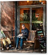 City - New York - Greenwich Village - The Path Cafe  Acrylic Print by Mike Savad