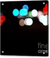 City Night Lights Acrylic Print