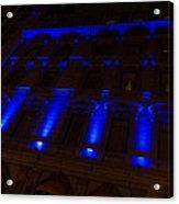 City Night Walks - Blue Highlights Facade Acrylic Print