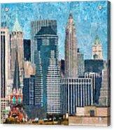 City - Ny - A Touch Of The City Acrylic Print