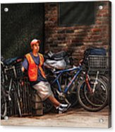City - Ny - Waiting For The Next Delivery Acrylic Print