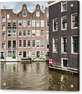 City Of Amsterdam Canal Houses Acrylic Print