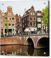 City Of Amsterdam In Holland Acrylic Print