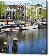 City Of Amsterdam River View Acrylic Print