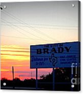 City Of Brady  Acrylic Print