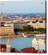 City Of Budapest Cityscape Acrylic Print