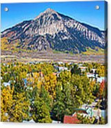 City Of Crested Butte Colorado Panorama   Acrylic Print