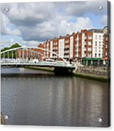 City Of Dublin In Ireland Acrylic Print