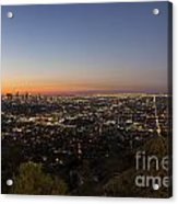 City Of Los Angeles Night Acrylic Print