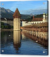 City Of Lucerne In Switzerland Acrylic Print by Ron Sumners