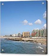 City Of Matosinhos Skyline In Portugal Acrylic Print