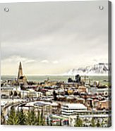 City Of Reykjavik  Acrylic Print