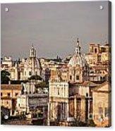 City Of Rome At Dusk Acrylic Print