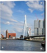 City Of Rotterdam Cityscape In Netherlands Acrylic Print