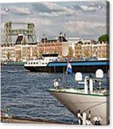 City Of Rotterdam Urban Scenery Acrylic Print