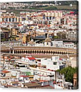 City Of Seville Cityscape In Spain Acrylic Print