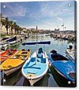City Of Split Colorful Harbor View Acrylic Print