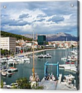 City Of Split Port In Croatia Acrylic Print
