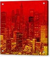 City On Fire Acrylic Print