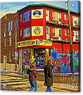 City Paint Benjamin Moore Rue Rachel And Hotel And De Ville Montreals Oldest Paint Store  C Spandau  Acrylic Print