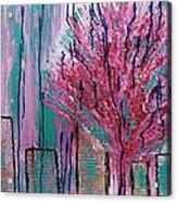 City Pear Tree Acrylic Print
