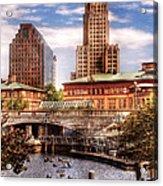 City - Providence Ri - The Skyline Acrylic Print by Mike Savad