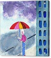 City Rain Acrylic Print